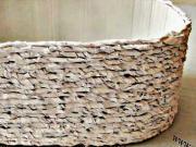 Košík (kvetináč) z kartónu