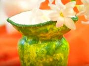 Servítková technika - polystyrénové vázy