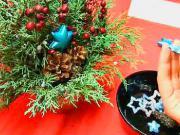 Vianočná dekorácia - ikebana