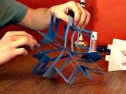 Papierová 3D hviezda - papierová vločka