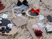10 DIY tipov na vianočné kartičky - menovky na darčeky