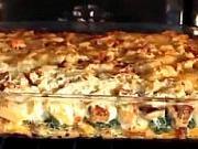 Zapečený chlieb so špenátom a syrom - recept