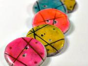 Gombíky - ako si doma vyrobiť originálne gombíky z polymérovej (fimo) hmoty