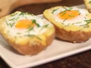 Zapečený brambor s vejcem - recept