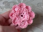 Háčkovaný kvet - ako sa hačkuje 3D kvet