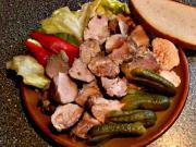 Zavařené maso - recept na zavařené vepřové maso - Domácí vepřová konzerva