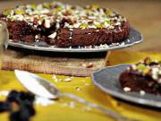 Čokoládový koláč se švestkami - recept na  švestkový koláč