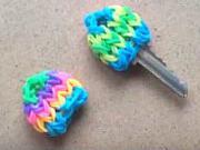 Kryt na kľuče z gumičiek - farebný rozlišovač kľúčov