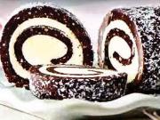 Nepečená kokosová roláda - recept  na nepečený kokosový zákusok
