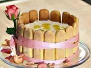 Pomarančovo-smotanová torta - recept na na pomarančovú tortu Charlotta