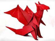 Drak z papiera - ako poskladať papierového draka