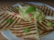 Quesadillas s Guacamole omáčkou