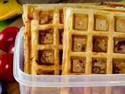 Slané wafle - recept na wafle so syrom,šunkou a cherry paradajkami