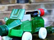 Auto z plastovej fľaše - ako si vyrobiť auto na vzdušný pohon - DIY