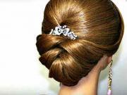 Svadobný účes pre stredne dlhé vlasy