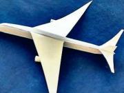 Lietadlo Airbus A-320 z papiera  - papierové lietadlo