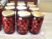 Zavárané čerešne - recept na zavárané čerešne - Zaváranie čerešní