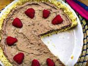 Nepečený tvarohovo-smetanový cheesecake s malinami - recept