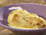 Zapékané hrušky s vanilkovým pudinkem - recept