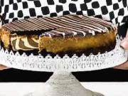 Zebrový cheesecake - recept na farebný cheesecake - zebrová torta