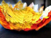 Miska z podzimních listů - jak si vyrobit podzimní dekoraci