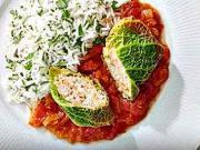 Plnené kelové listy - recept na kelové listy plnené mletým  mäsom