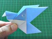 Papierový vták - ako poskladať vtáka z papiera