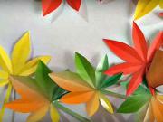Jesenné listy - ako si vyrobiť origami listy z papiera