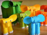 Slon z papiera - ako poskladať papierového slona