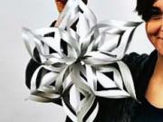 Snehová vločka z papiera - papierová vločka
