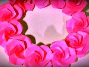 Venček z papierových ruží - Papierový venček z ruží