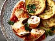 Plnené závitky so zemiakovými plackami - recept