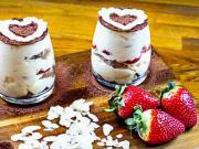 Čučoriedkový dezert s mascarpone do pohára - recept