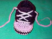 Háčkované detské tenisky - ako uháčkovať detské topánočky
