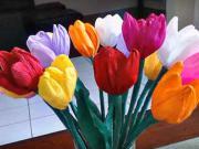 Tulipány z papiera - ako si vyrobiť papierové kvety