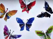 Motýle z časopisu - ako vyrobiť papierové motýle