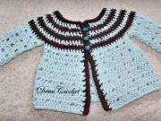 Háčkovaný svetrík pre novorodenca 1.časť - ako uháčkovať svetrík pre novorodenca 1/3