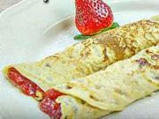 Palačinky s jahodovým džemem - recept na palačinky