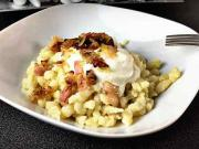Bryndzové halušky - recept na bryndzové halušky so slaninkou