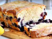 Borůvkový koláč s citronovou polevou - recept
