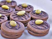 Kakaové koláčiky s čokoládou a mandľou - recept