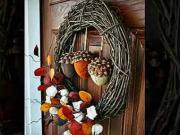 Podzimní inspirace na zdobení vchodových dveří