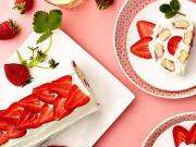 Nepečená jahodová roláda - recept na jahodovú roládu