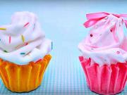 Cupcake ako košíček na šperky - odkladací košíček v tvare cupcake