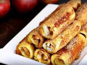Toustové rolky plněné jablkem - recept na francouzské toasty se škořicí