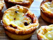 Pizza muffiny - recept na muffiny plněné paprikou, žampiony a salámem