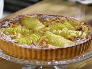 Hruškový koláč s mandľami - recept