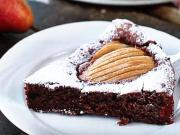 Čokoládovo - hruškový koláč - recept na čokoládově-hruškový dort
