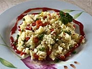 Krabie rizoto - recept na krabie rizoto so zeleninou