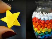 Hviezdy z papiera - ako poskladať papierové hviezdičky